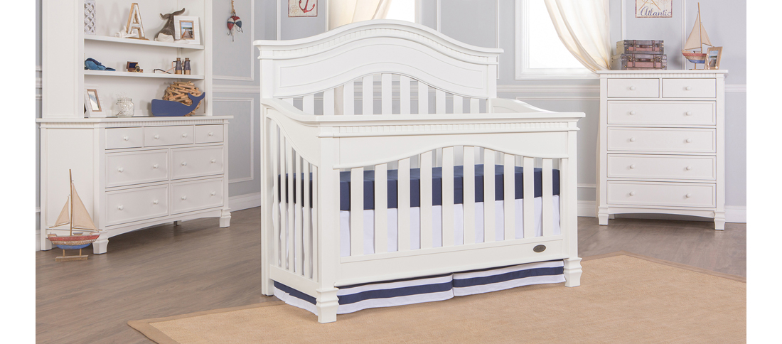 Cheyenne Distressed White Convertible Crib