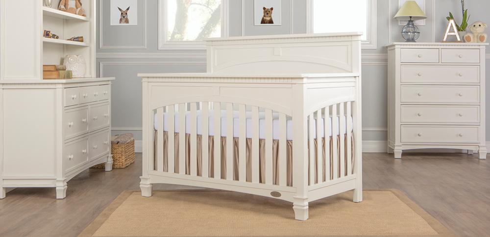 Santa Fe Distressed White Convertible Crib