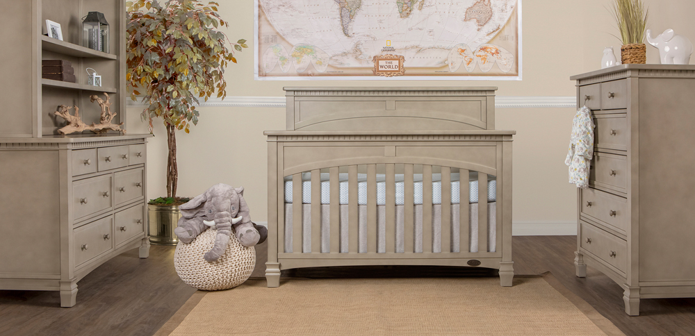 Santa Fe Vintage Grey Convertible Crib