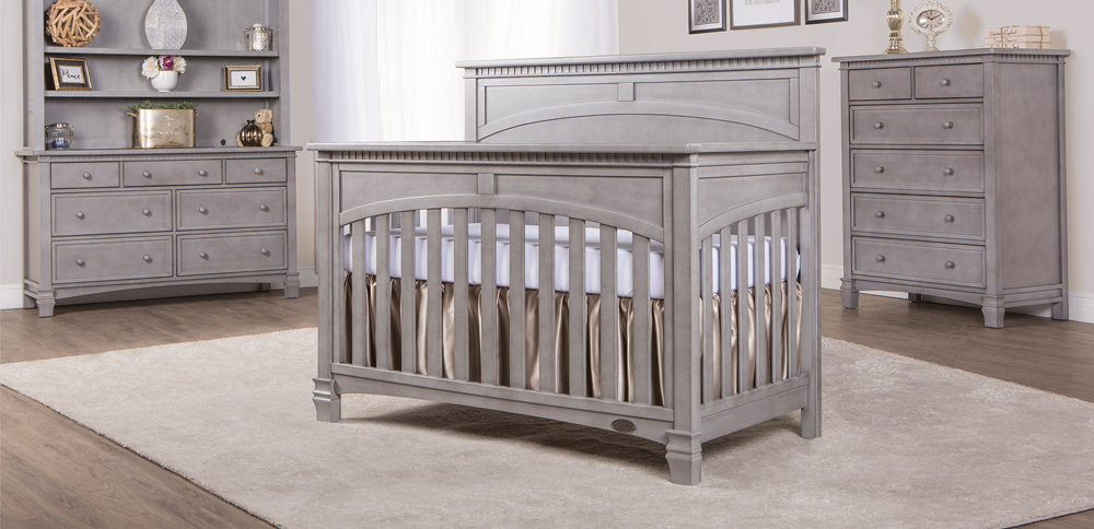 Santa Fe Storm Grey Convertible Crib