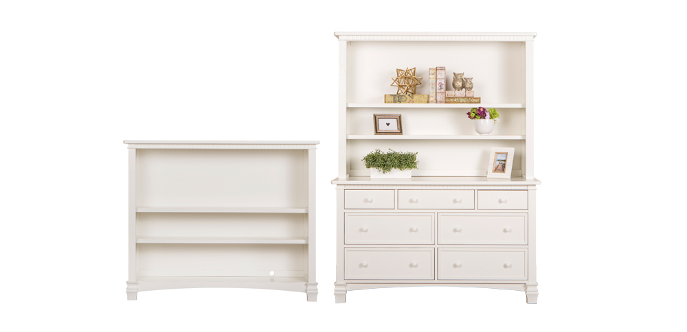 Cheyenne Distressed White Hutch