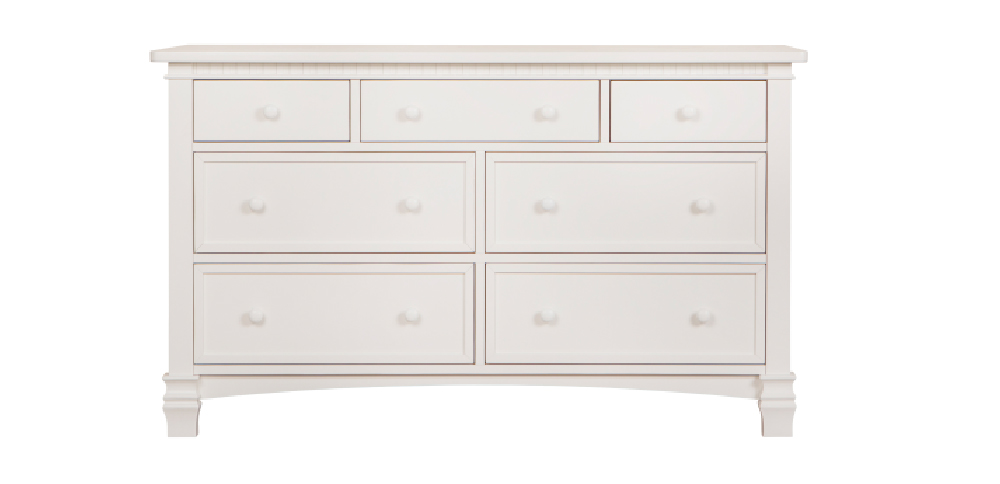 Cheyenne Distressed White Double Dresser