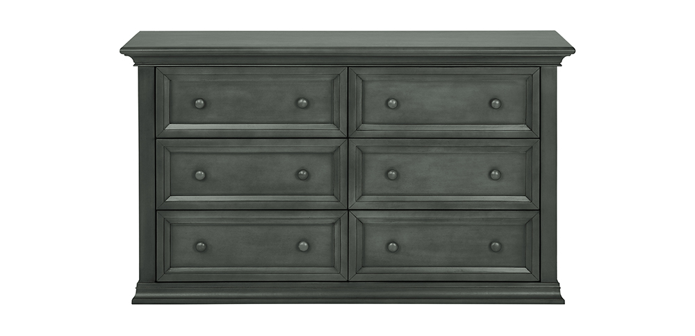 Napoli Distressed Slate Double Dresser