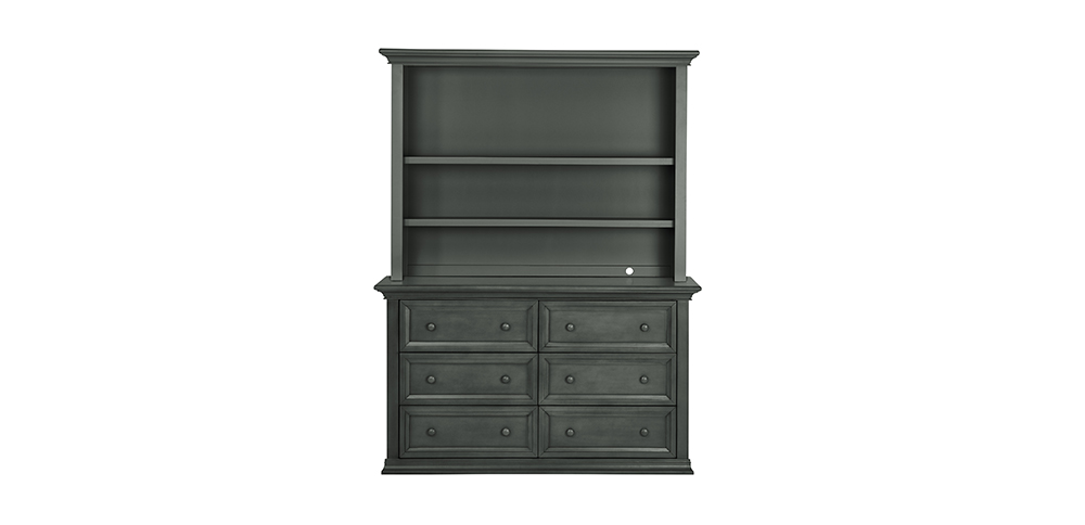 Napoli Distressed Slate Hutch