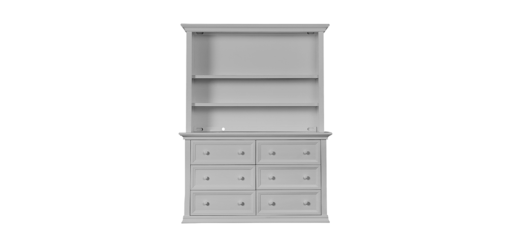 Napoli Dove Grey Hutch/Bookcase
