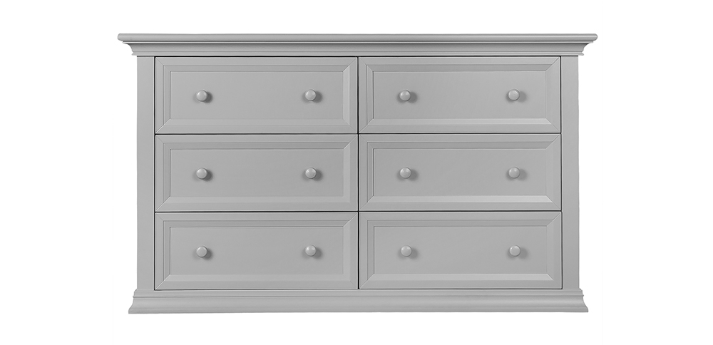 Napoli Dove Grey Double Dresser