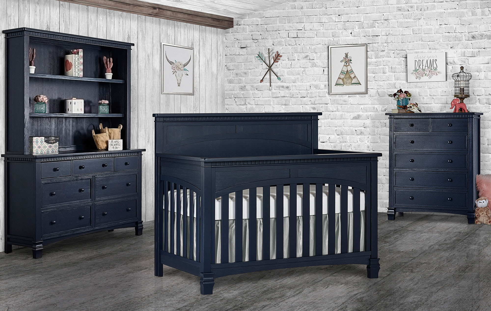 831-DN Santa Fe Convertible Crib RS2