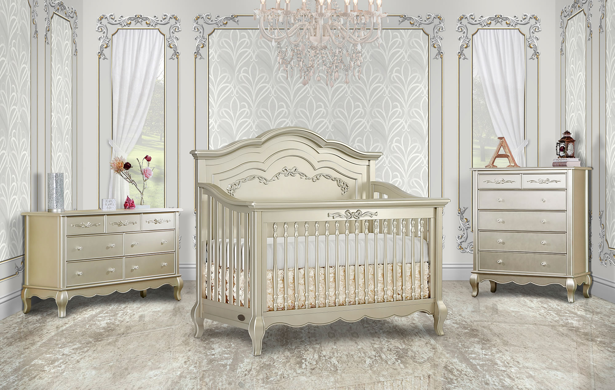 832-GD Aurora Convertible Crib RS1
