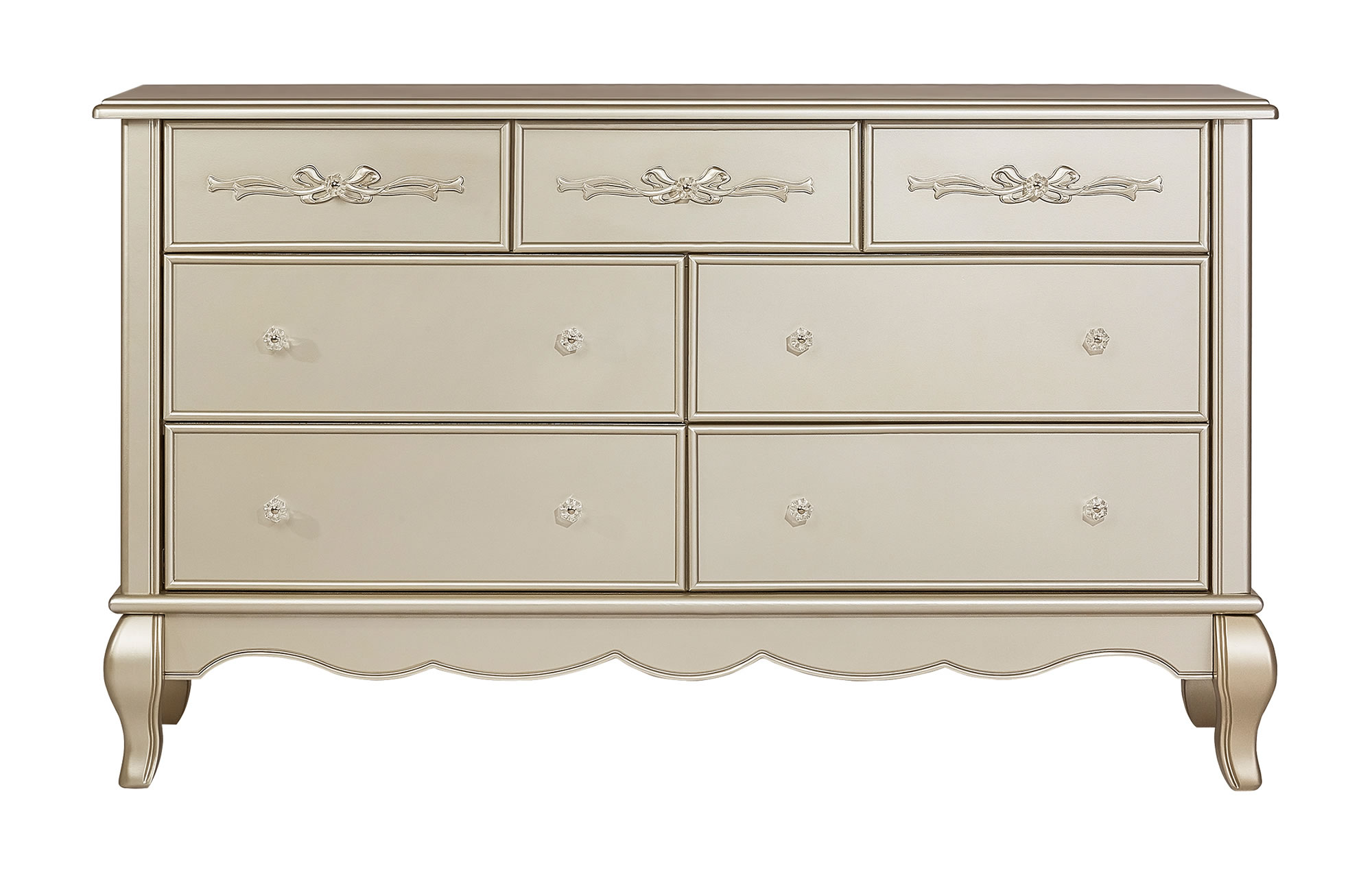 833-GD Evolur Aurora Double Dresser Silo Front