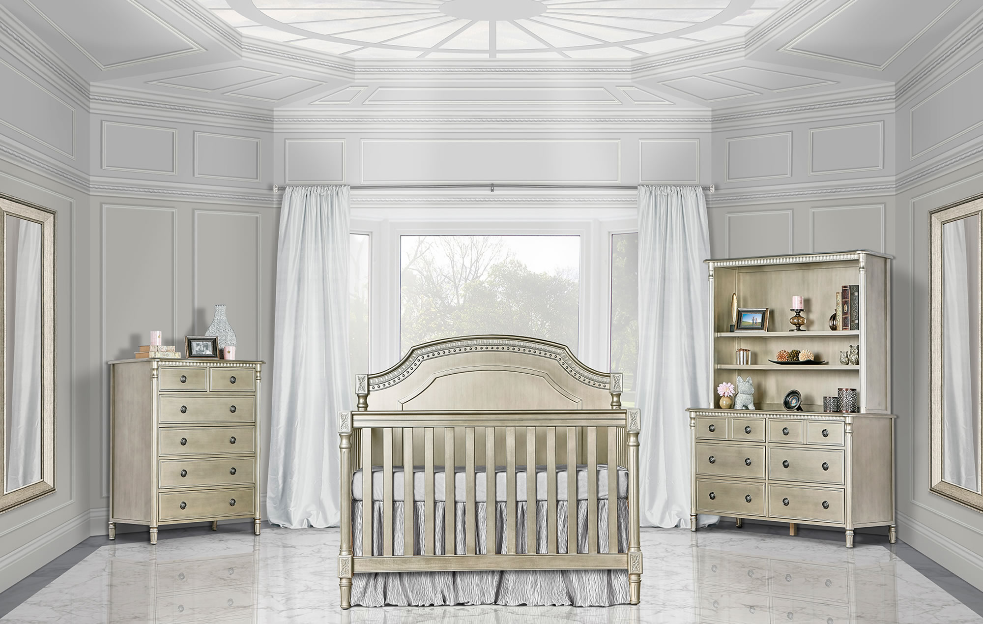 837-PTR Evolur Julienne Convertible Crib RS1