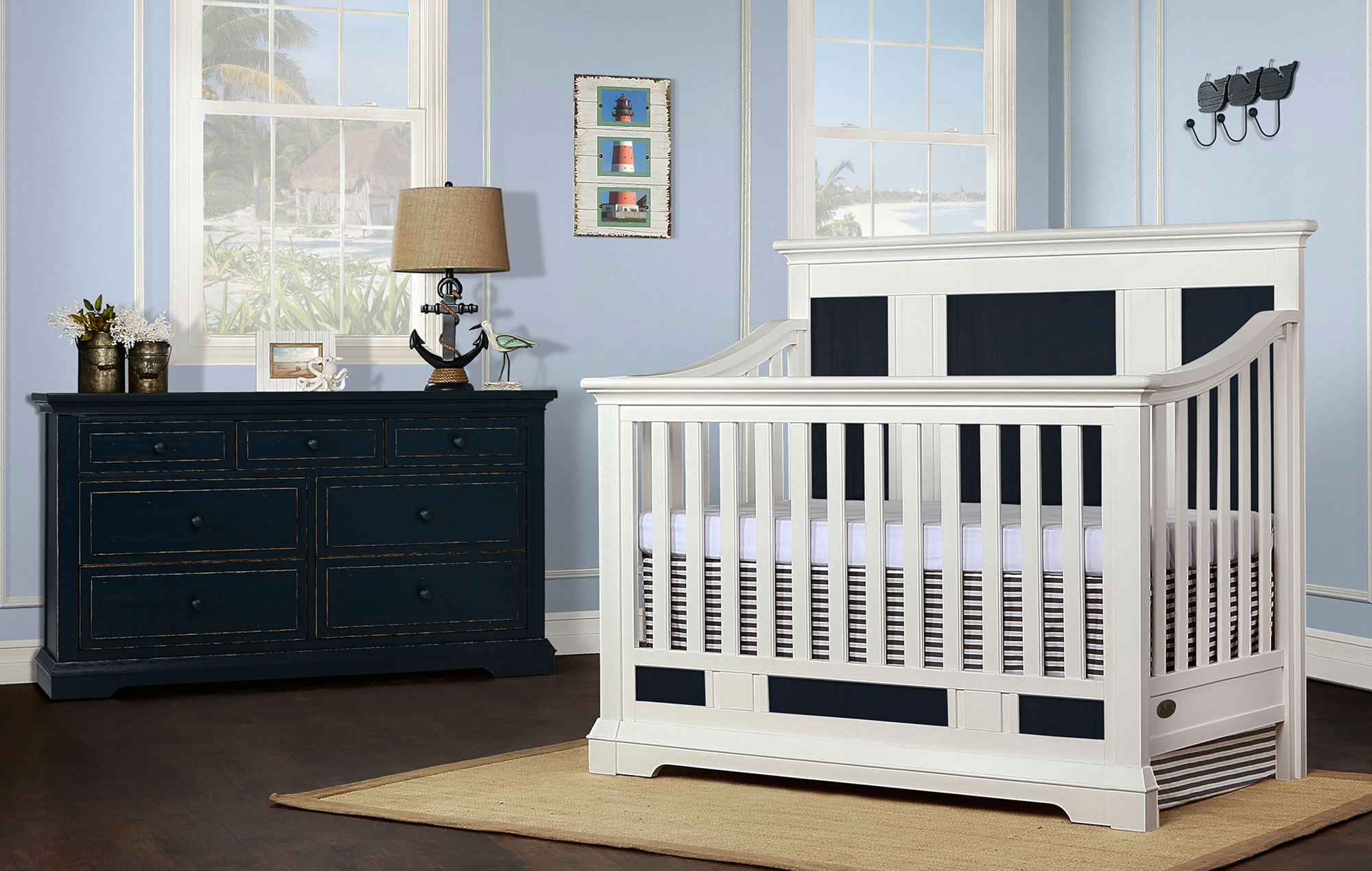 842-WDN Evolur Parker Convertible Crib RS2