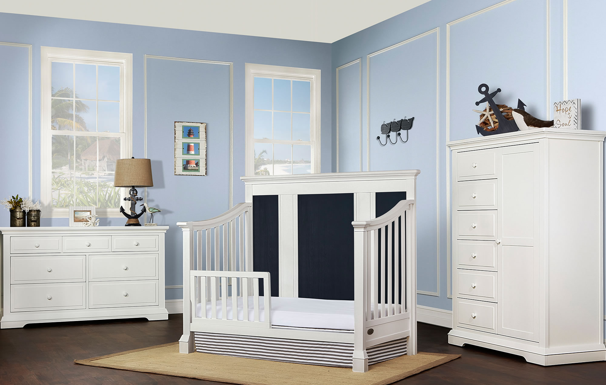 842-WDN Evolur Parker Toddler Bed RS1