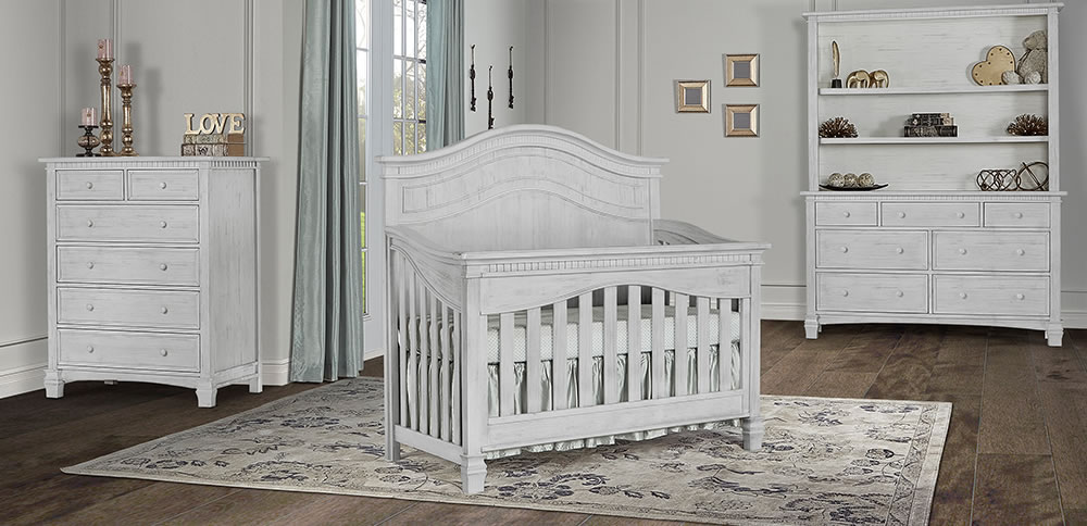 Evolur Cheyenne 5 in 1 Convertible Crib Antique Mist