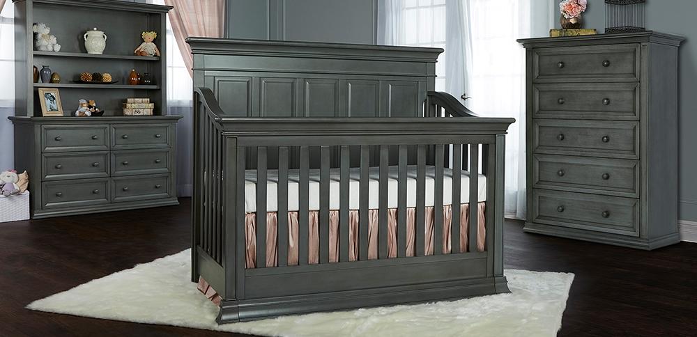 Evolur Napoli Convertible Crib RS Distressed Slate