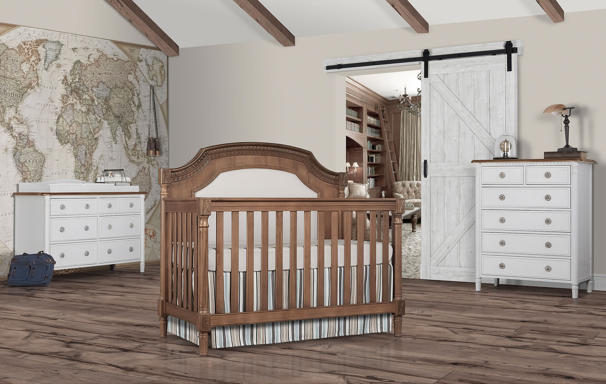 Evolur Julienne 5 in 1 Convertible Crib Toffee RS