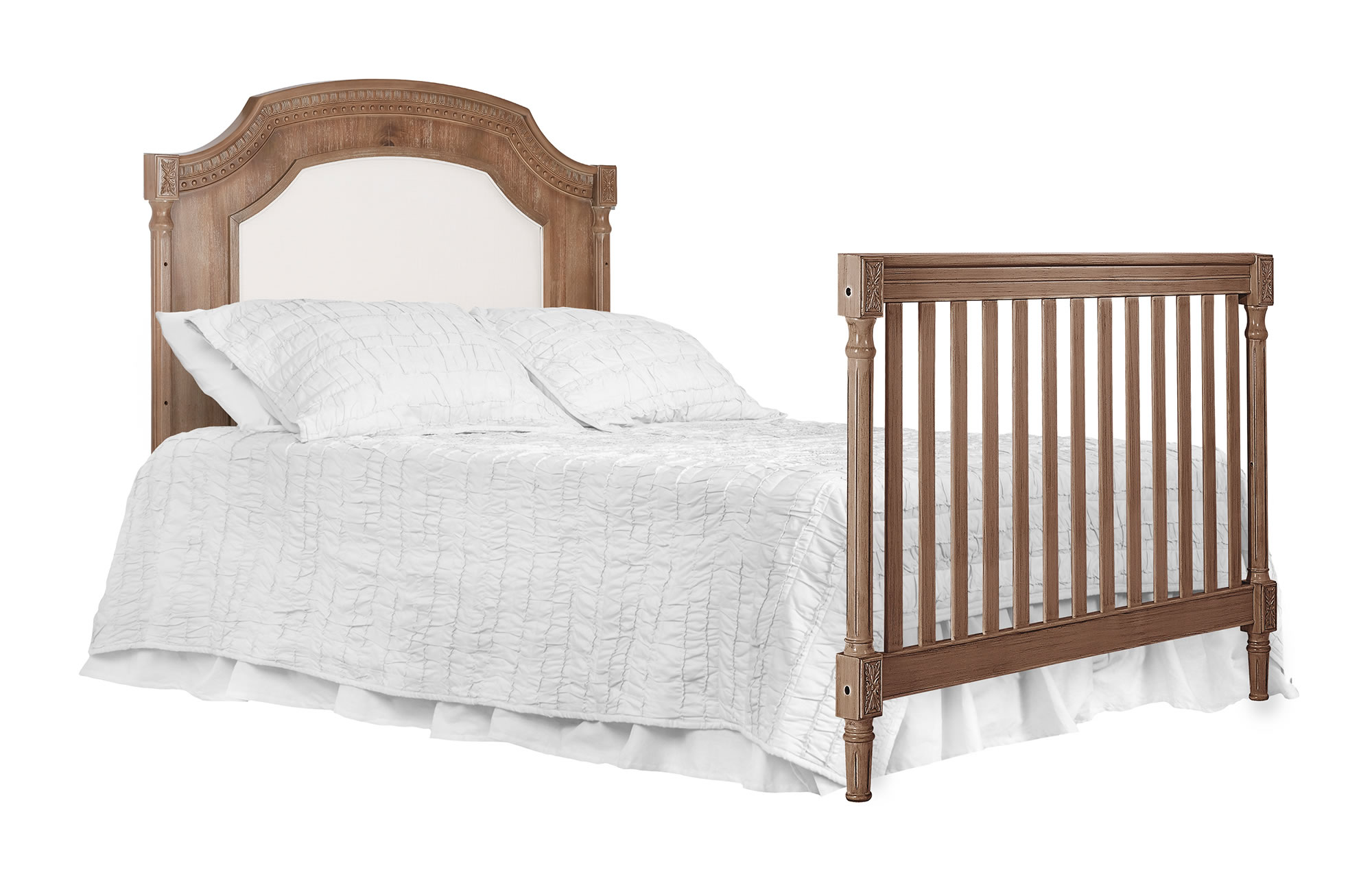 Evolur Julienne Full Bed with Head foot board - Toffee