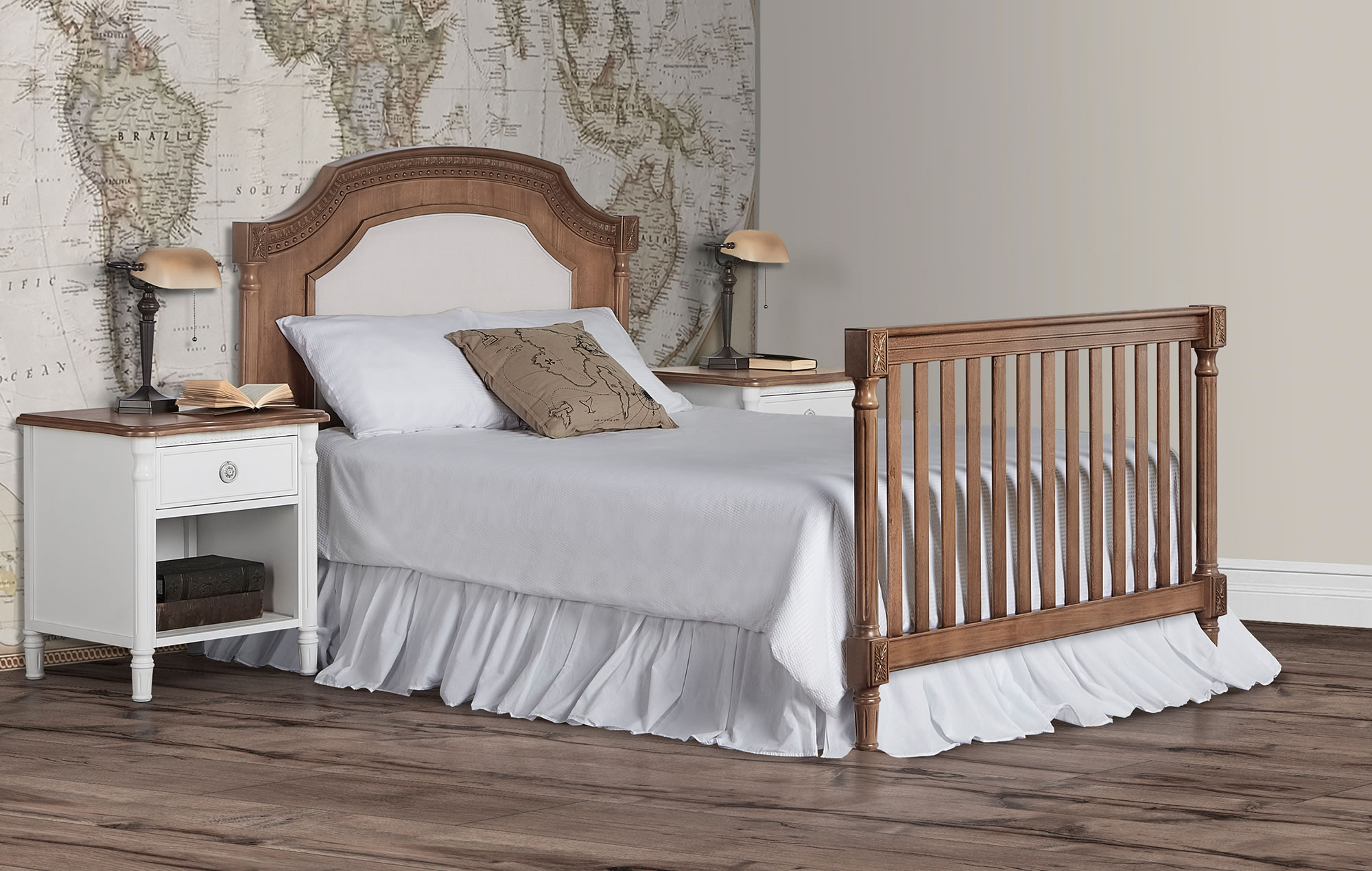 Evolur Julienne Full Bed with Head Foot Toffee RS