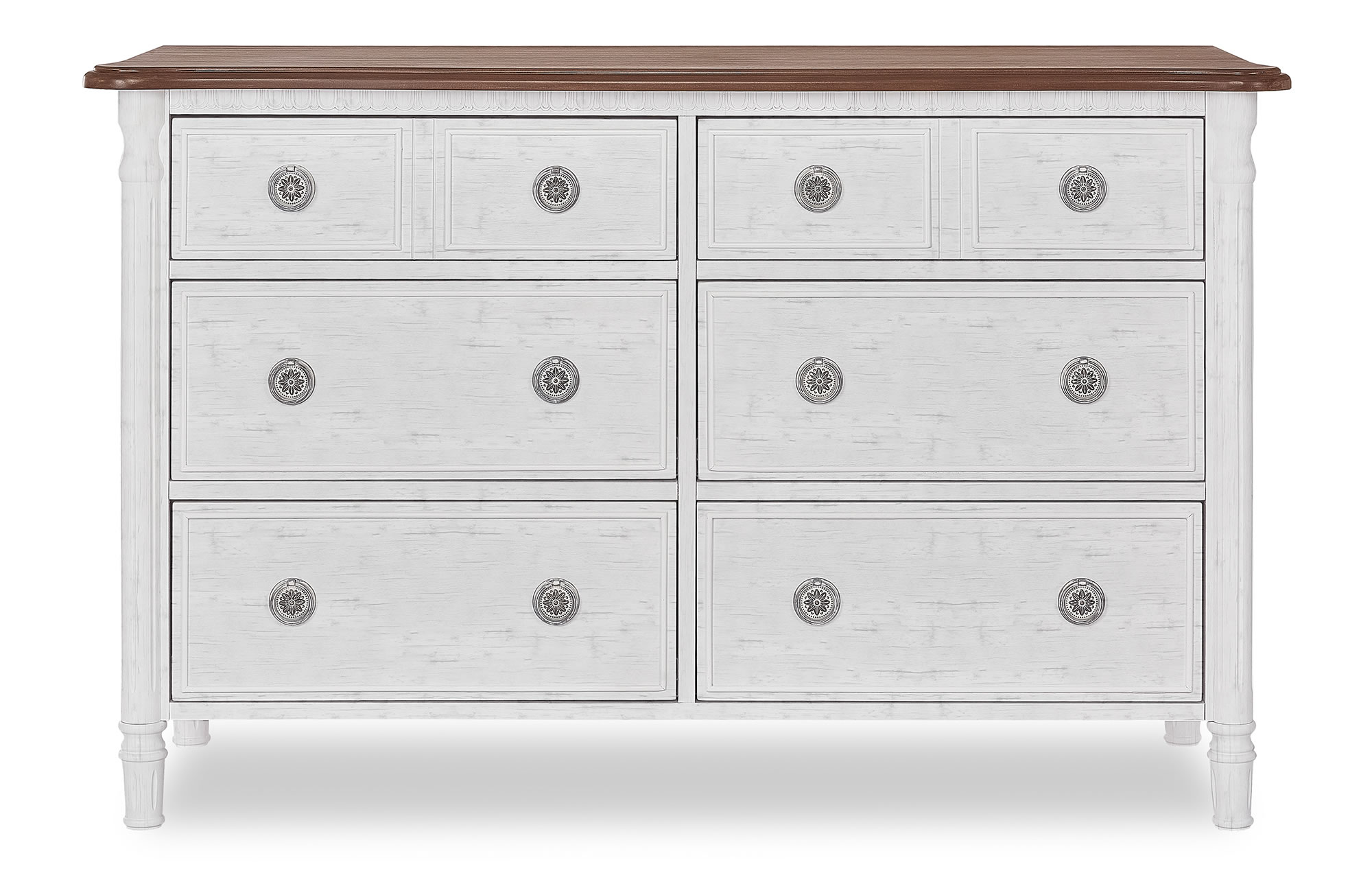 Evolur Julienne Double Dresser - Toffee