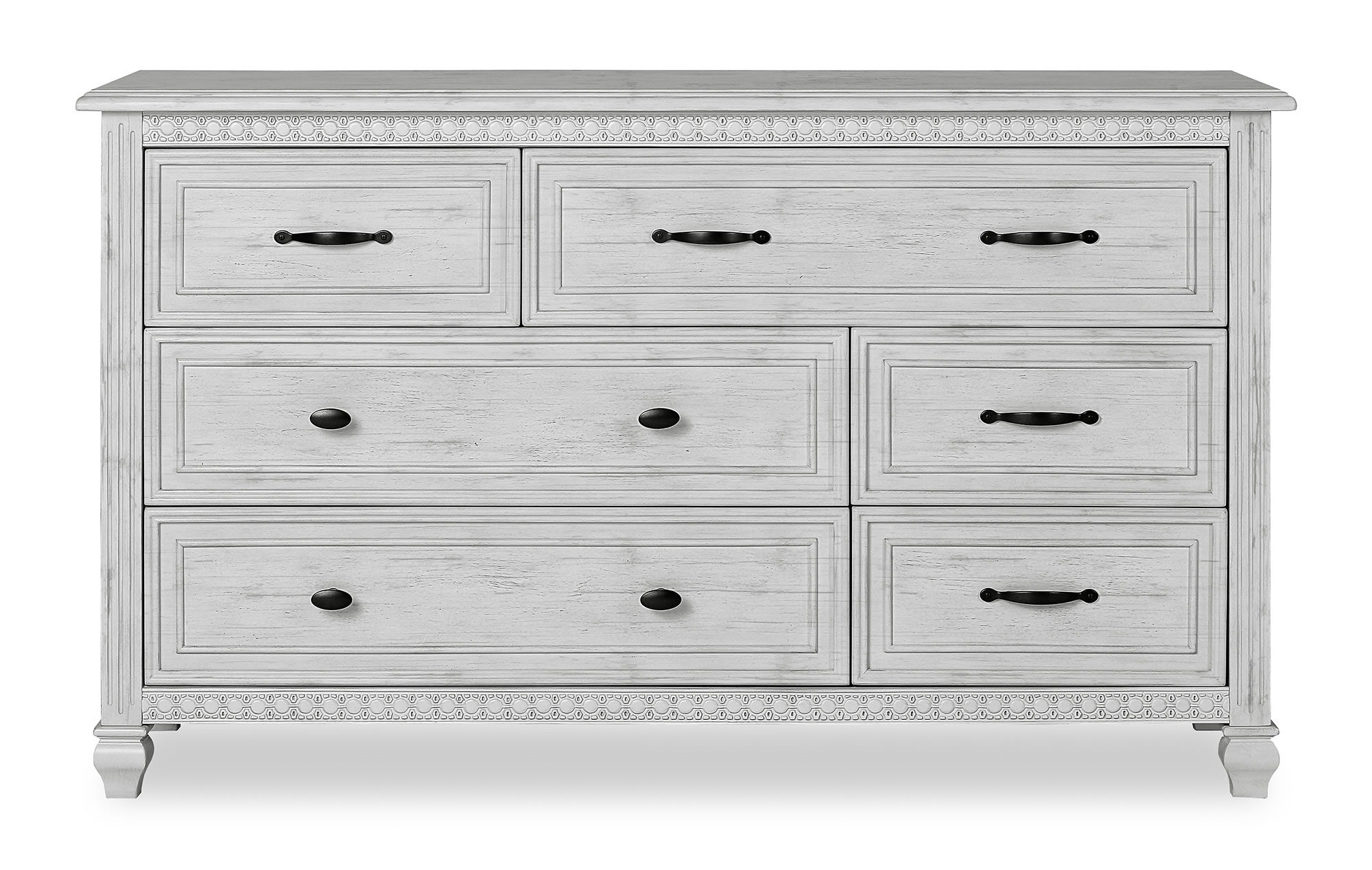 Evolur Madison Double Dresser Silo Front Antique Mist