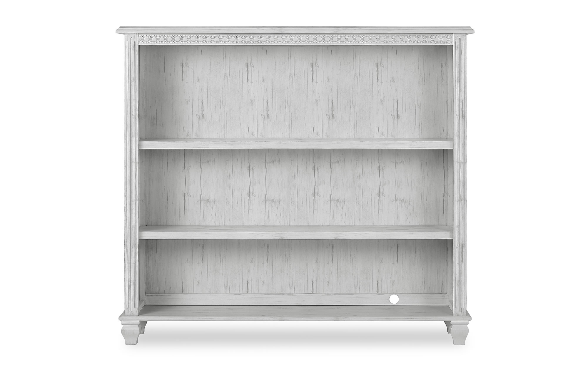 Evolur Madison Bookcase Silo Front Antique Mist