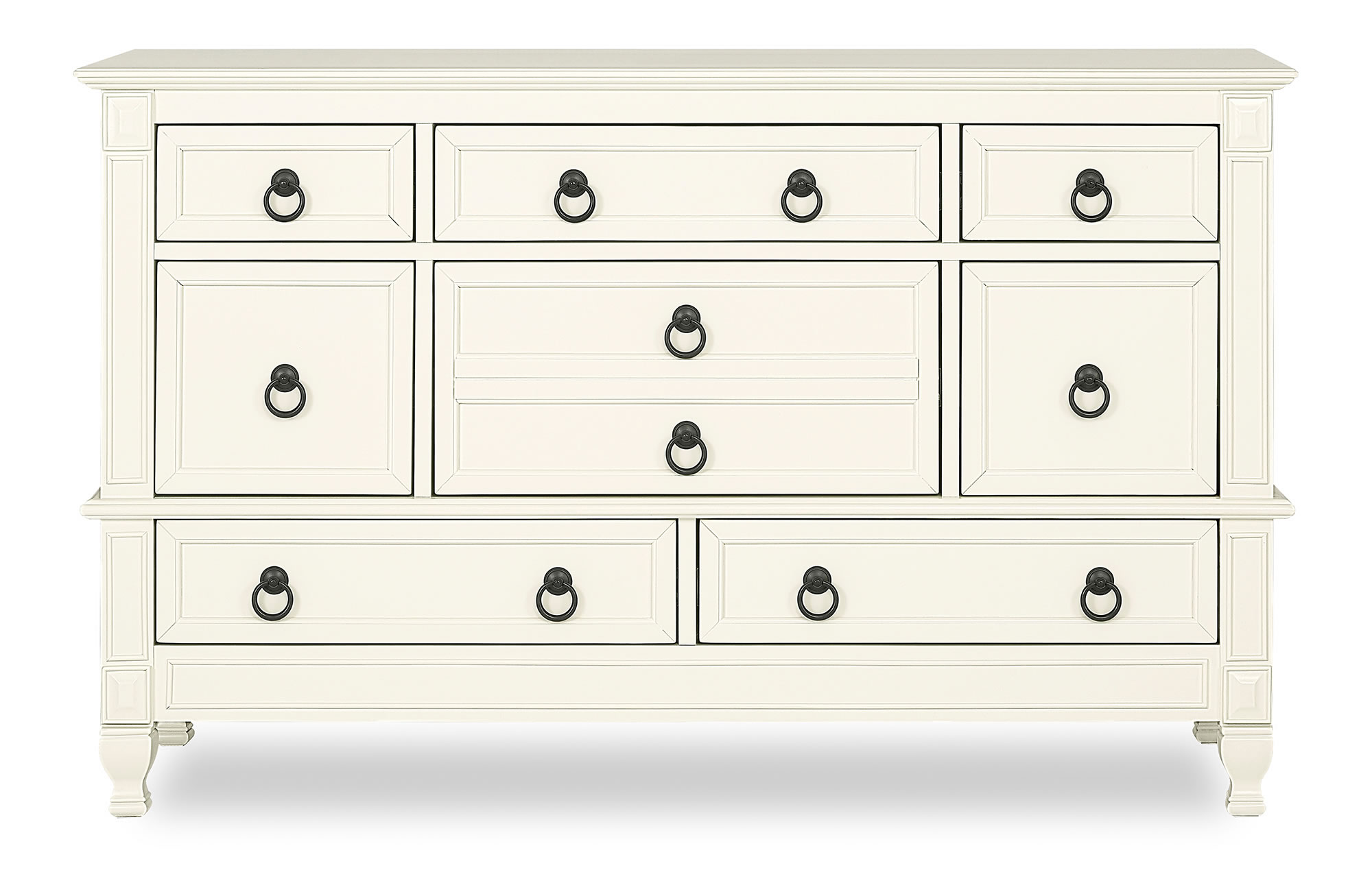 Evolur Adele Double Dresser Silo Front