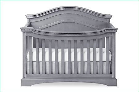 évolur WINDSOR (CURVED TOP)/ADORA – 5-in-1 Convertible Crib