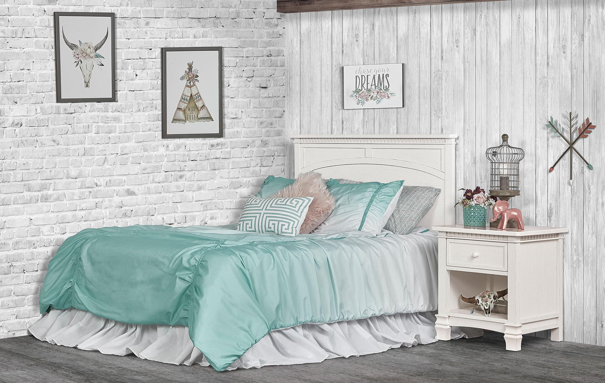 831-DN Santa Fe Full Bed Headfoot RS1