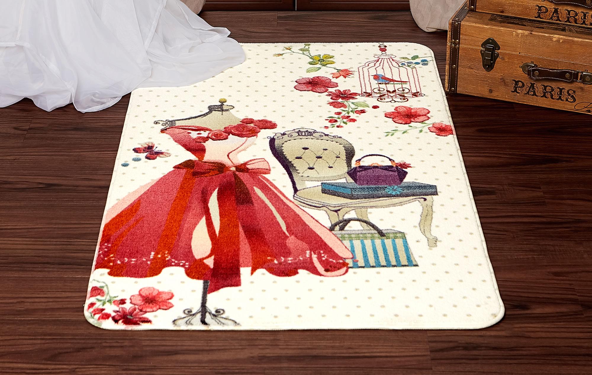 Pink Dress Vanity Nursery Rug