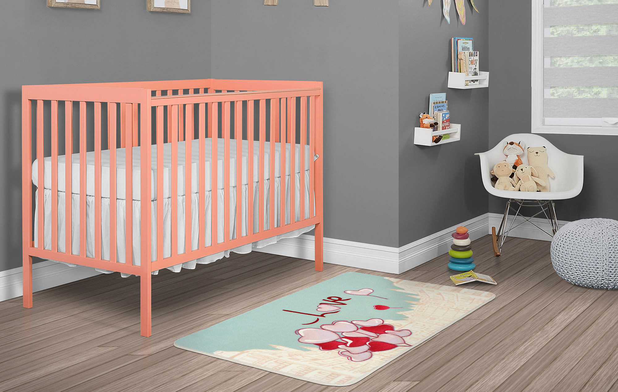 Evolur City Love Nursery Rug