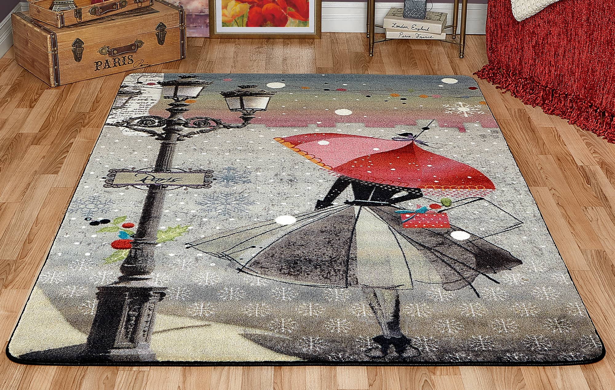 Midnight in Paris Nursery Rug