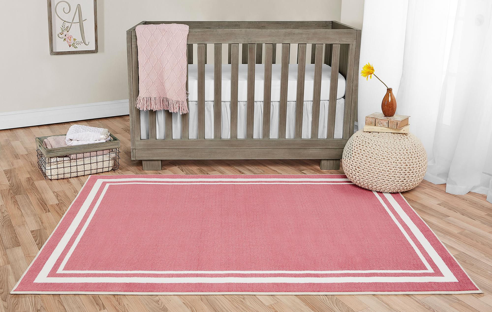 Rose Pink Nursery Rug