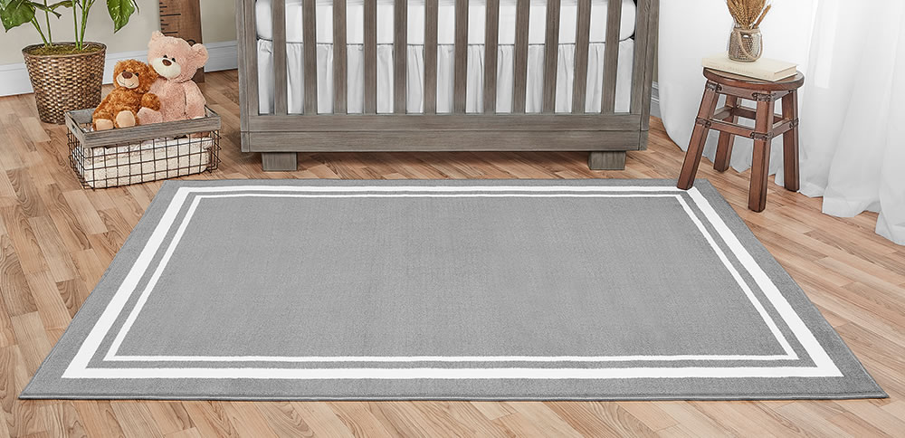 Dove Grey Nursery Rug 70 X 52 Evolur