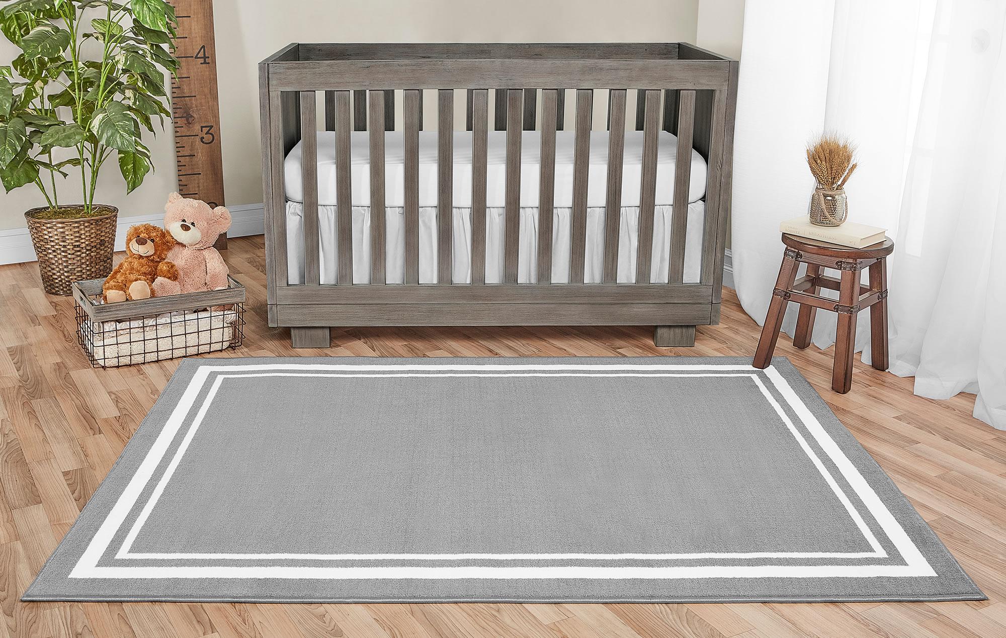 Dove Grey Nursery Rug