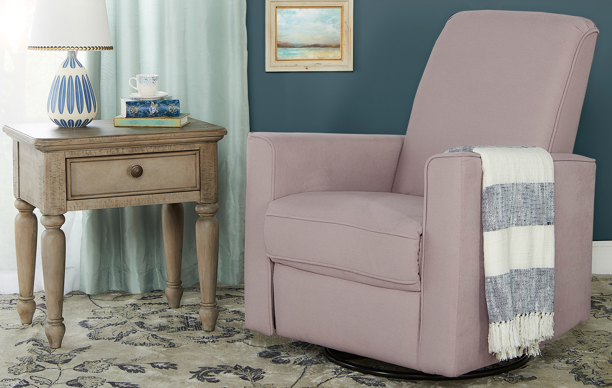 Raleigh Basic Glider | Recliner | Rocker in Lilac