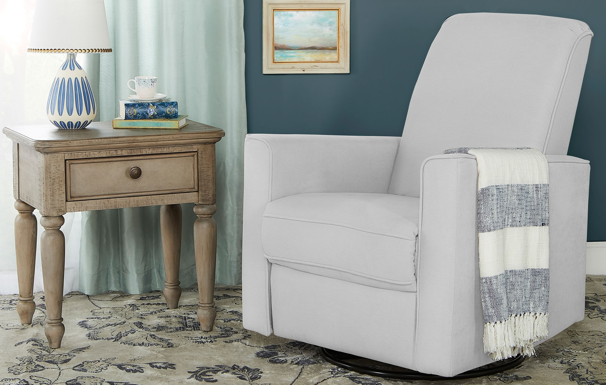 Harlow Deluxe Glider|Recliner|Rocker in Grey