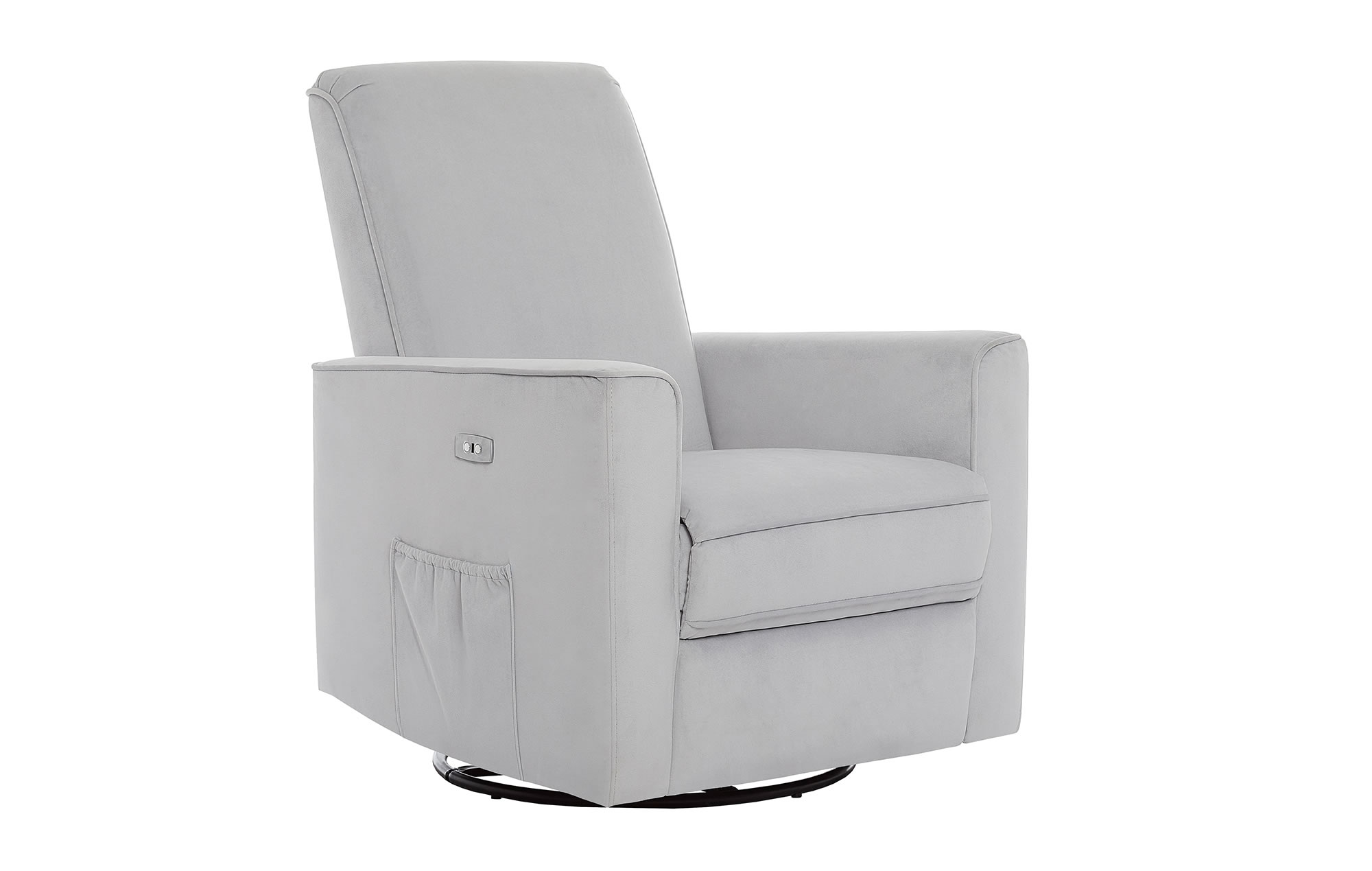 Evolur Harlow Deluxe Glider|Recliner|Rocker in Grey