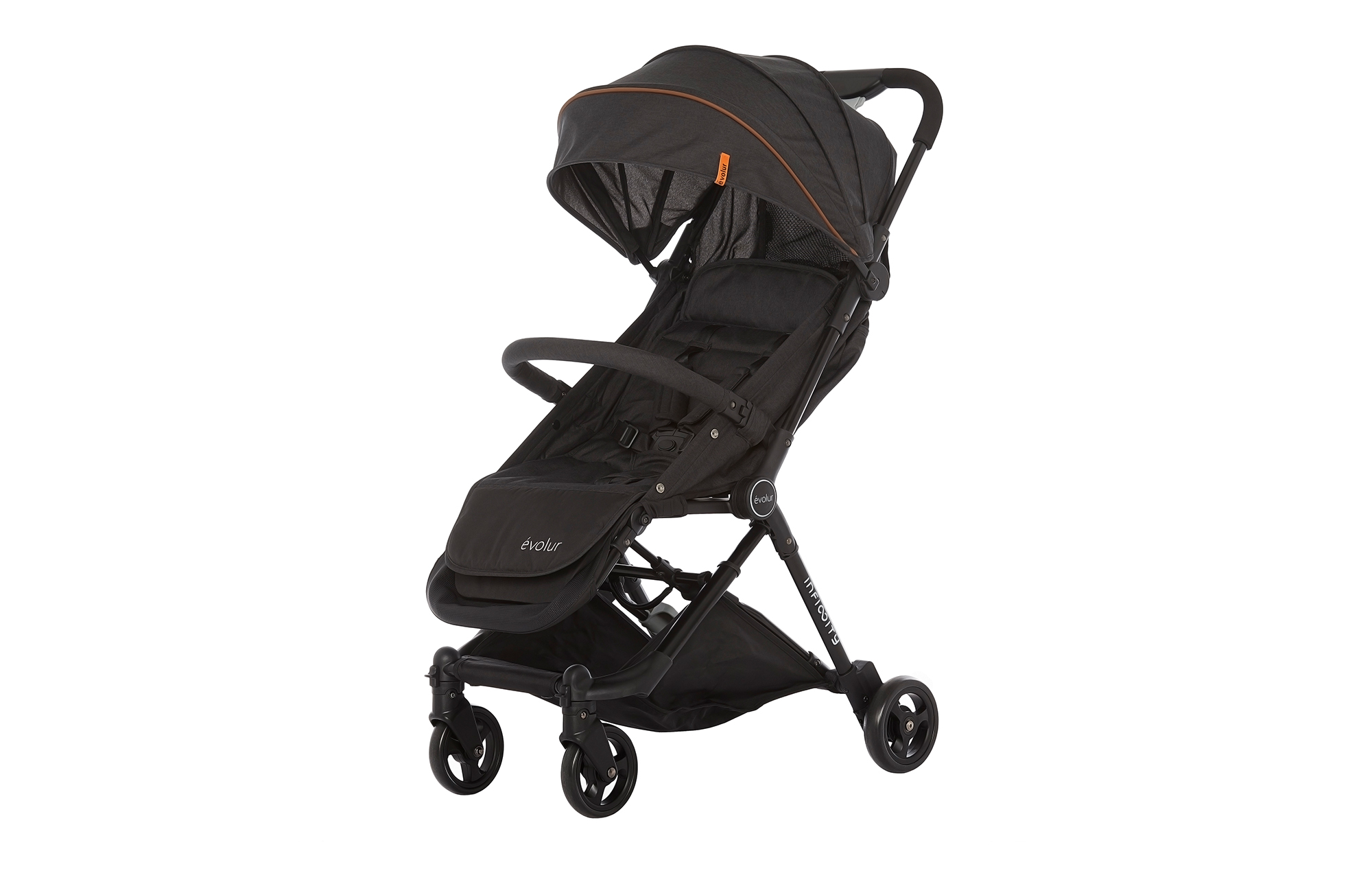 Evolur Infinity Convertible Stroller in Black
