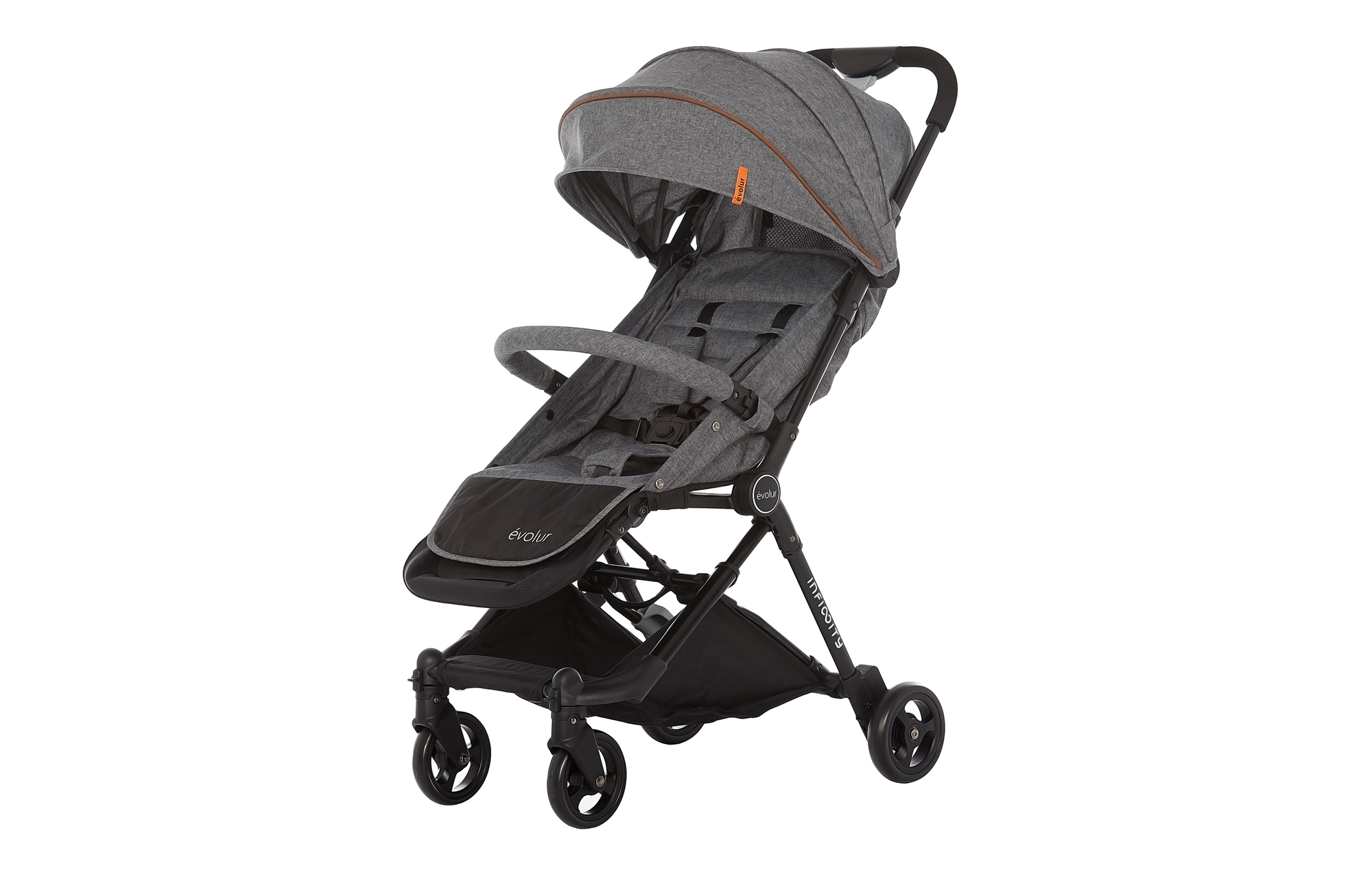 Evolur Infinity Convertible Stroller in Grey