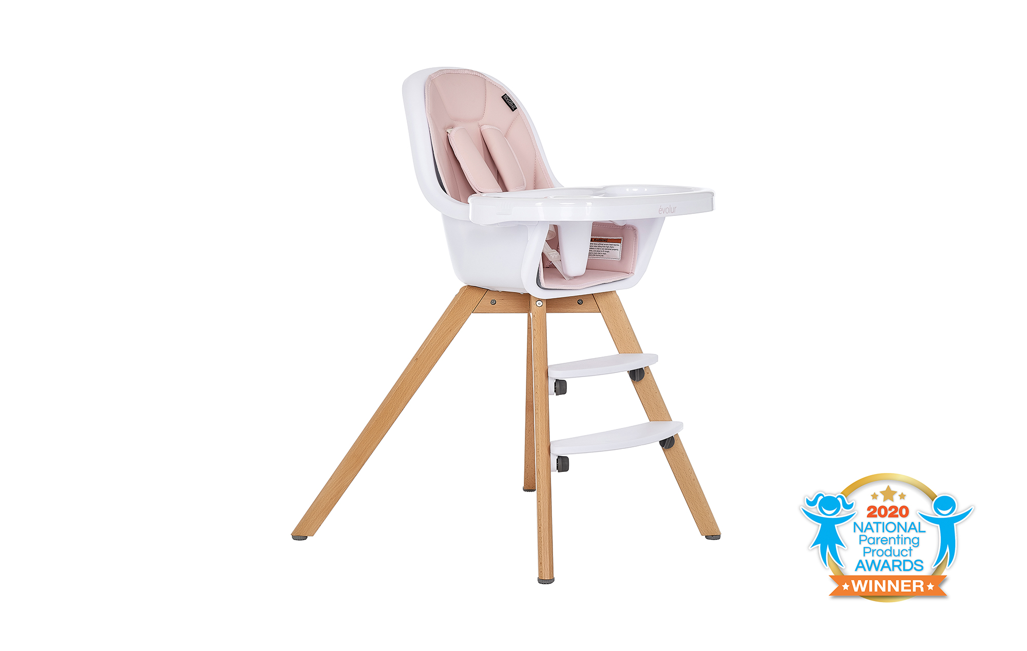 Zoodle 2-in-1 High Chair in Pink