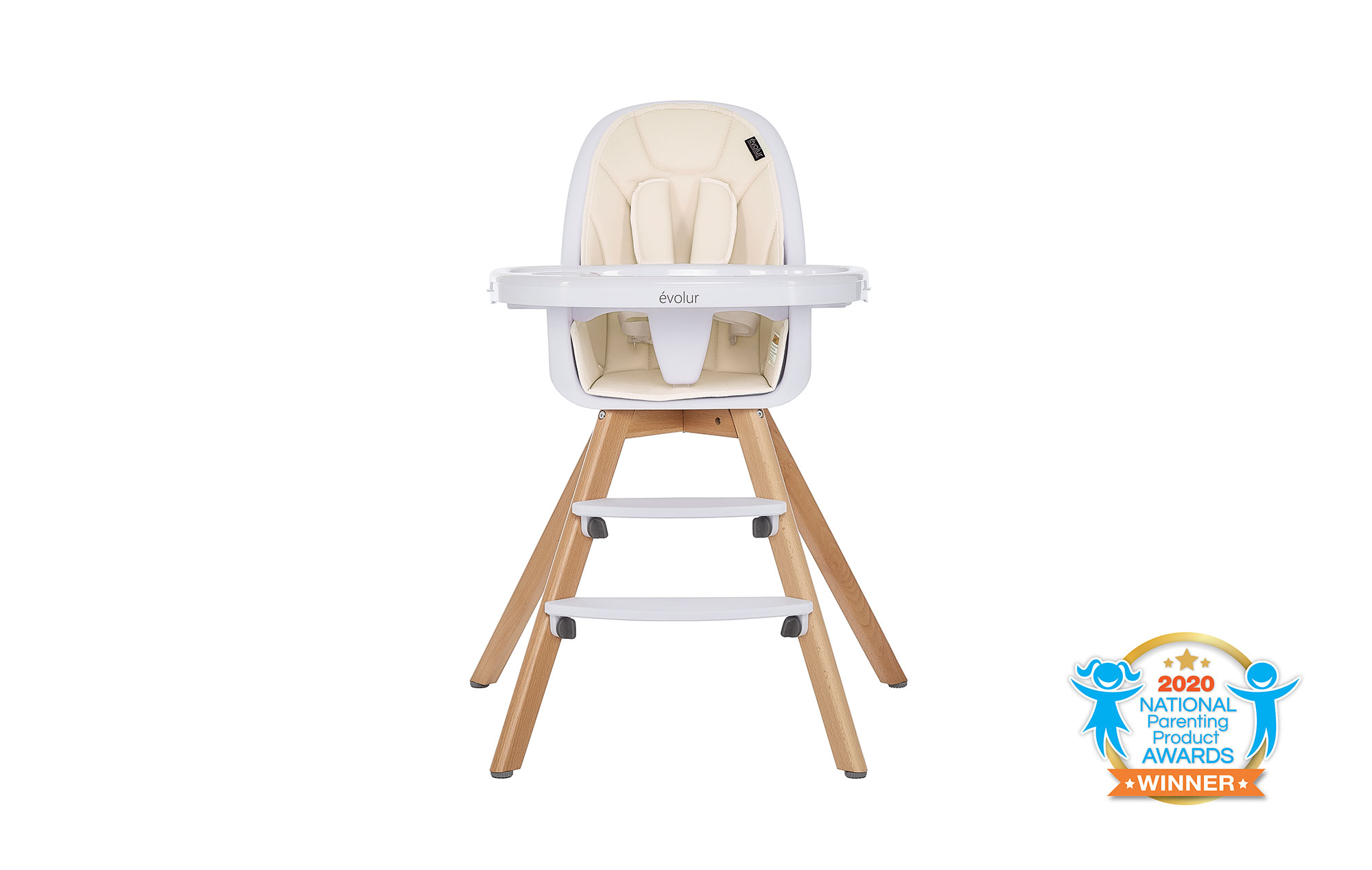 Zoodle 2-in-1 High Chair in Ivory