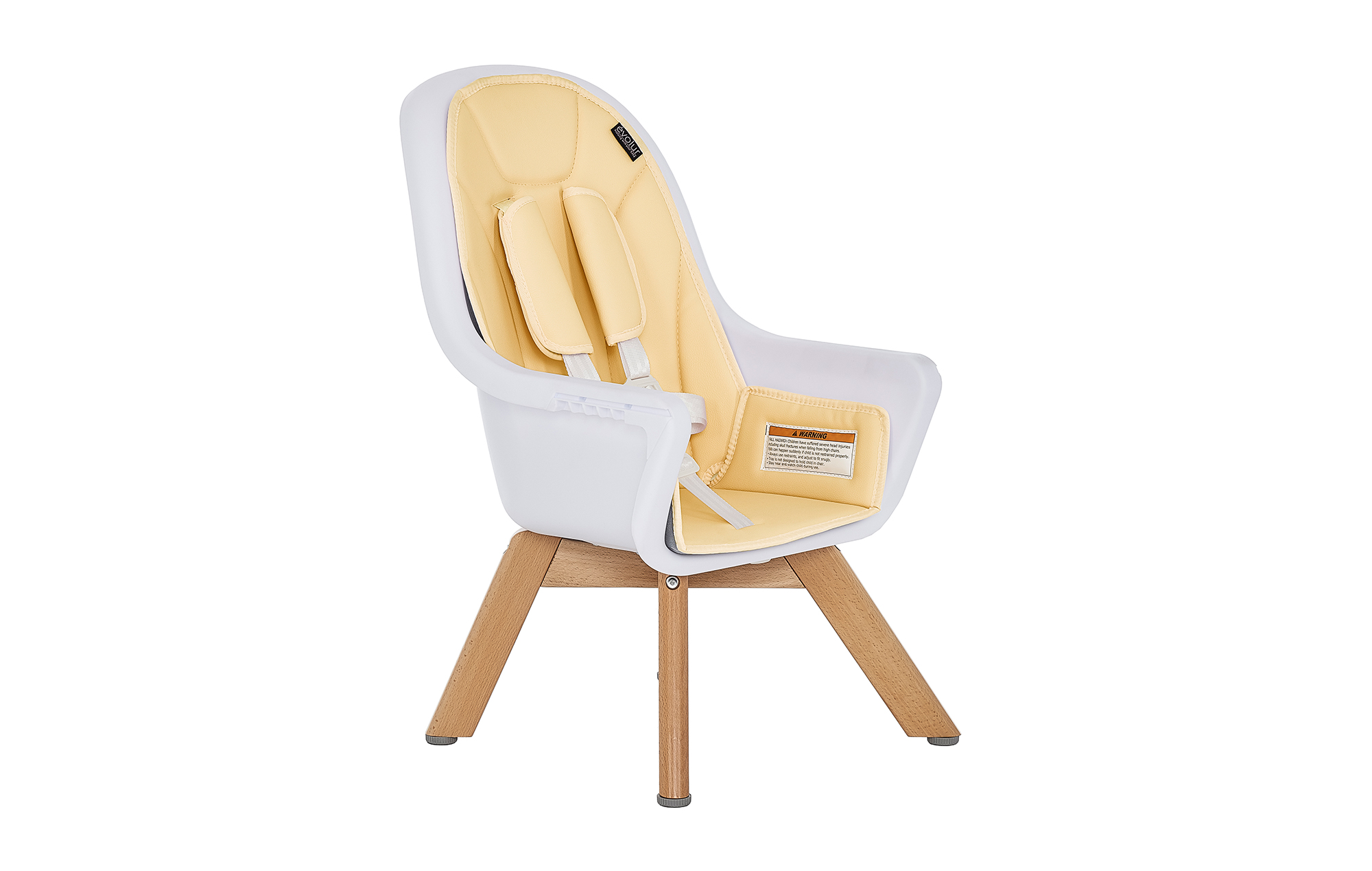 Zoodle 2-in-1 High Chair in Yellow