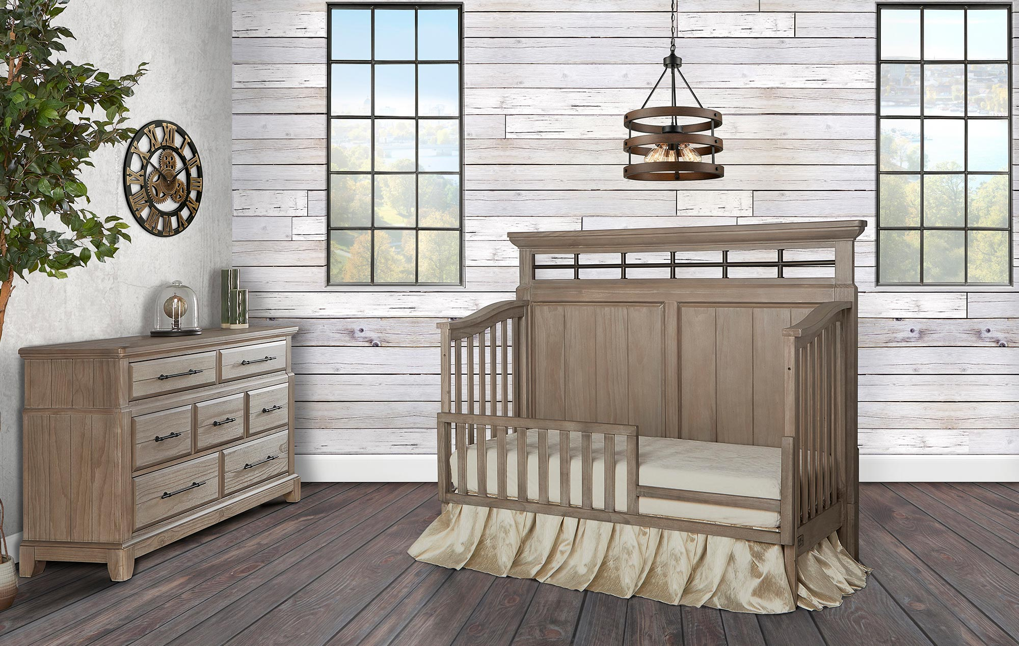 Evolur Glam 5-in-1 Convertible Crib