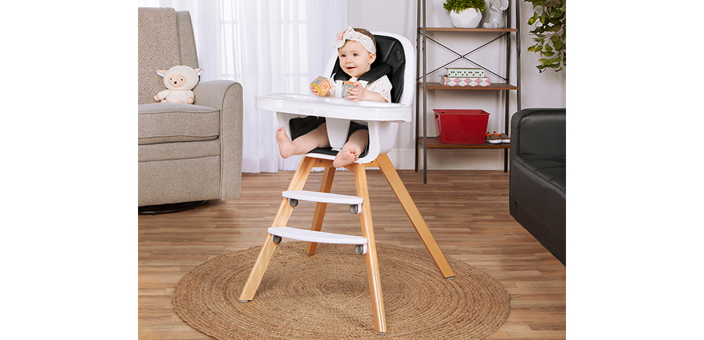 254-BLK Zoodle 3-in-1 High Chair Room Shot 02