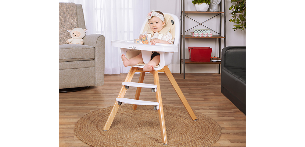 254-IVORY Zoodle 3-in-1 High Chair Room Shot 02